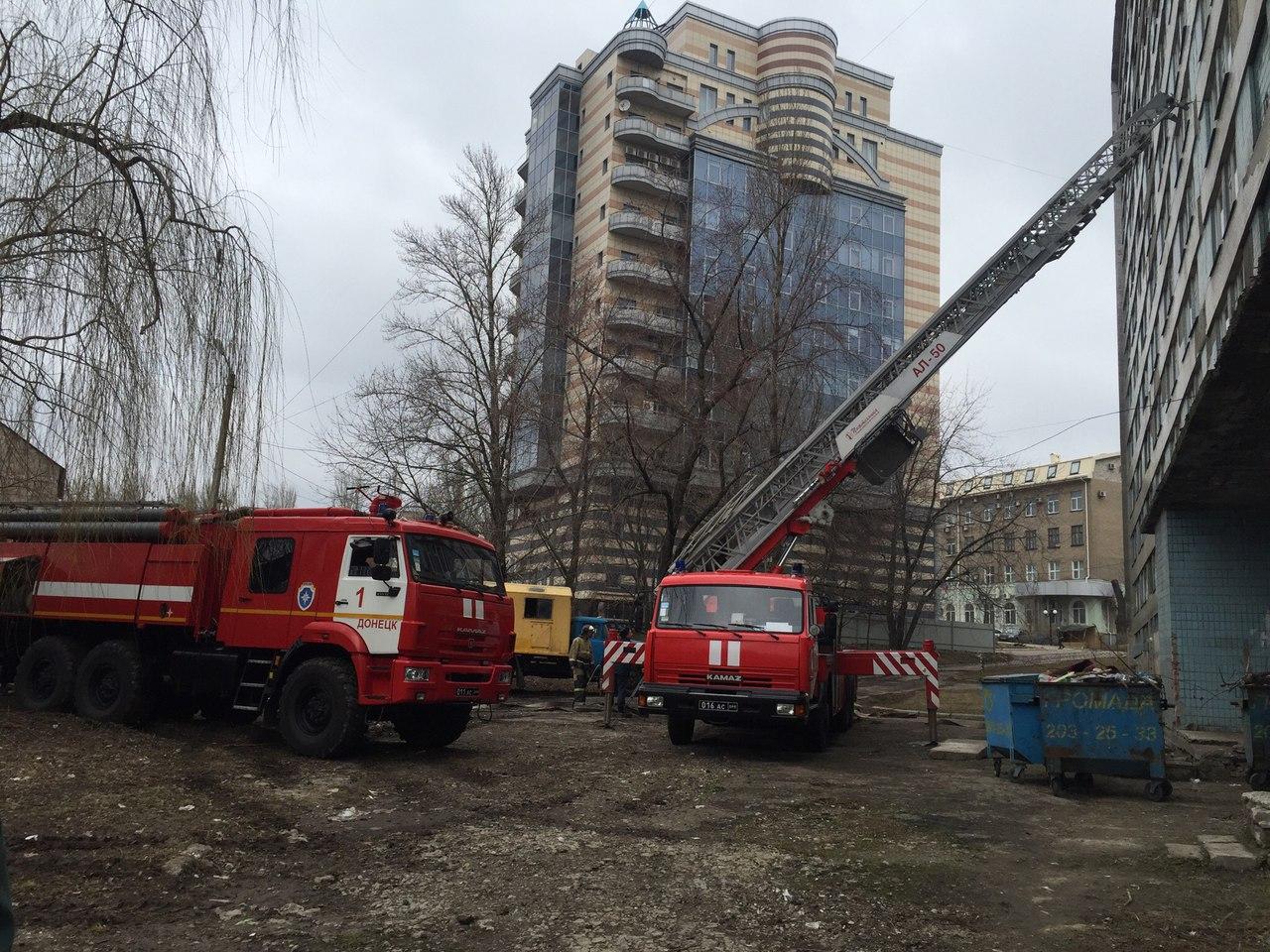 Отработка эвакуации из общежития расчетом МЧС